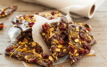 Chocolate Bark with Super Foods