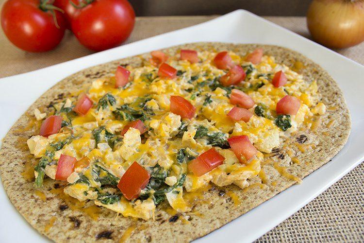 Flat Bread Breakfast Pizzas