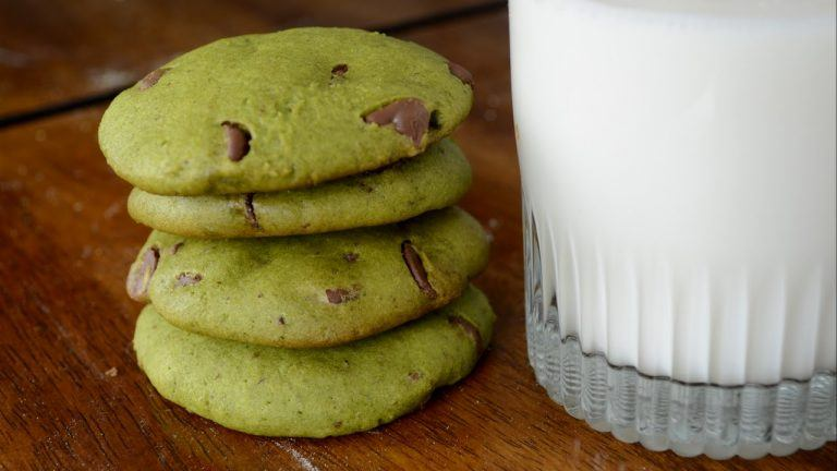 Matcha Green Tea & Chocolate Chip Cookies (Dairy Free, Gluten Free)