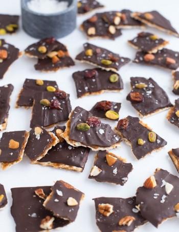Chocolate-Covered Matzo Bark