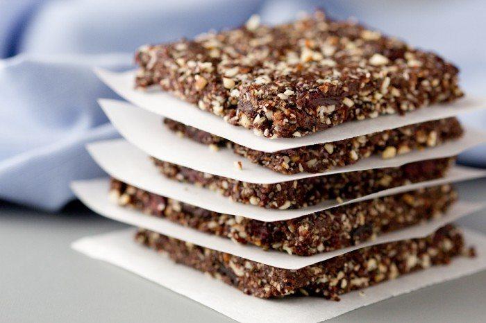 Raw Chocolate Chia Energy Squares