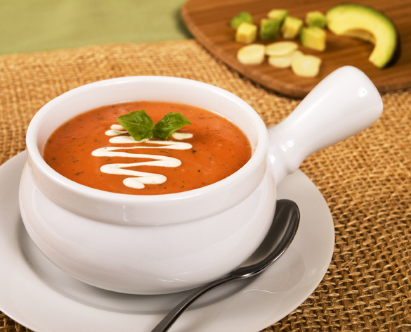 Creamy Tomato Zucchini Basil Soup - The Real Food Academy