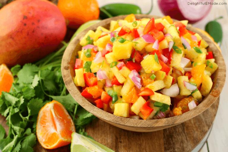 Tropical Salad Wraps