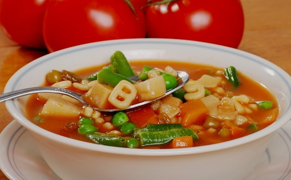 Vegetable Soup with Fun Pasta