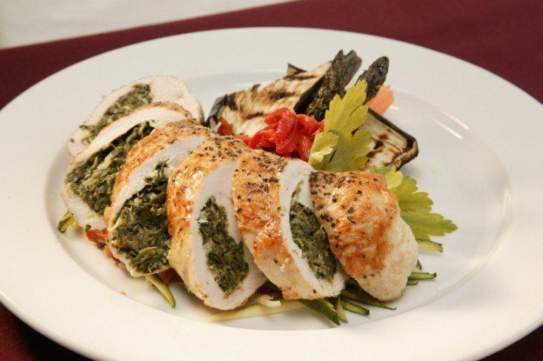 Crispy Chicken Florentine Roll Ups
