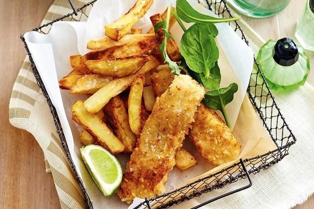 Crispy Salmon & Quinoa Fish Fingers
