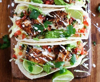Fish Tacos with Avocado Cole Slaw