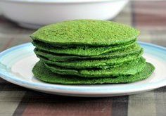 St Patrick's Green Spinach Pancakes