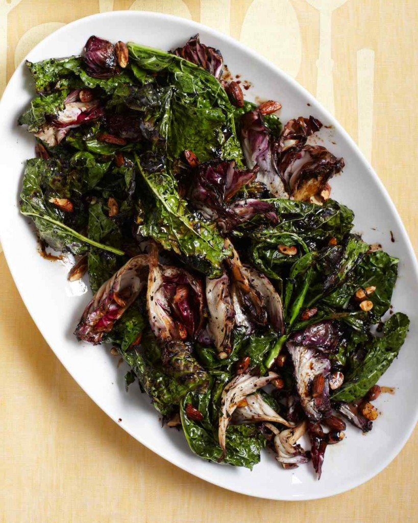 Warm Kale Antipasto Salad