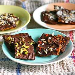 Chocolate Surprise Matzo Bark