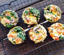 Mini Mushroom, Sausage and Spinach Quiches