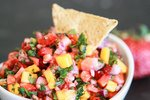 Salsa with chip