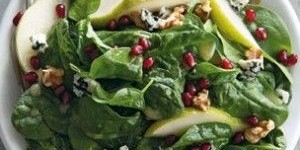 spinachpearsalad