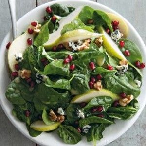 Spinach and Pear with Pineapple Vinaigrette