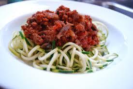 Zucchini Spaghetti with Turkey Marinara Sauce